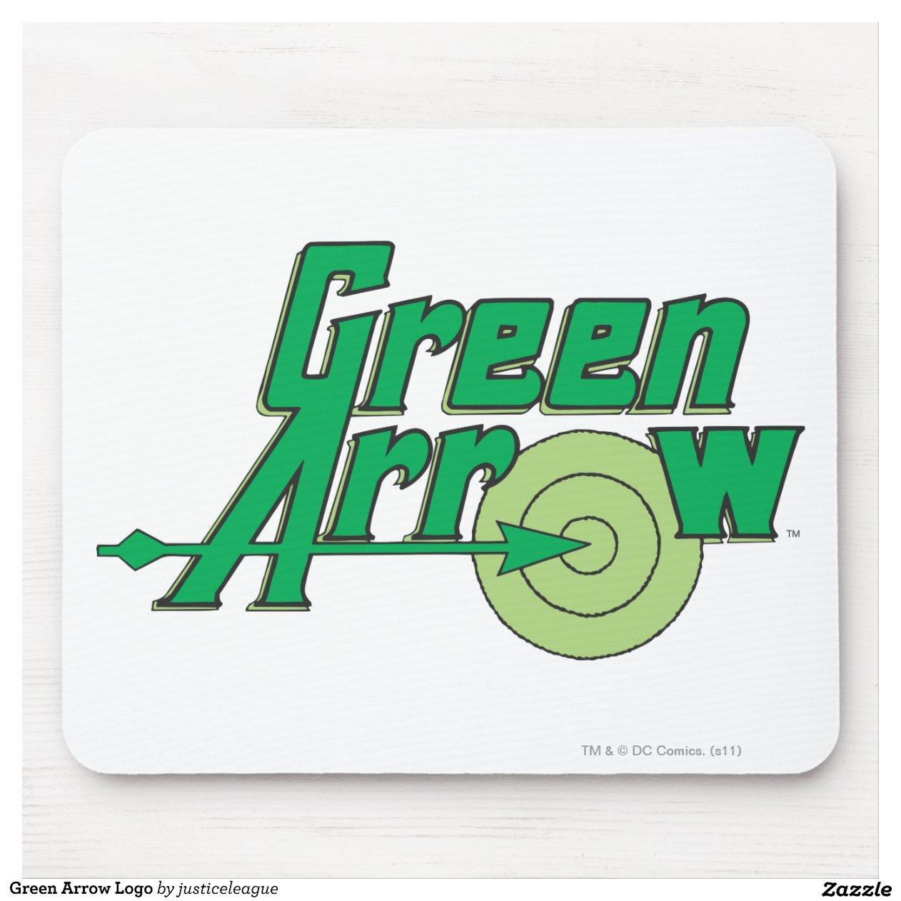 Logo vert de fl che tapis de souris zazzle - Tapis de souris personnalise belgique ...