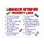 Lois de propriété de LABRADOR RETRIEVER Cartes Postales