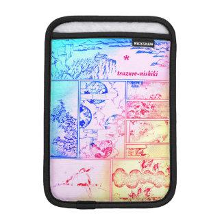 L'oiseau asiatique de collage coloré de nature housse pour iPad mini