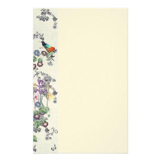 L'oiseau de colibri fleurit la papeterie