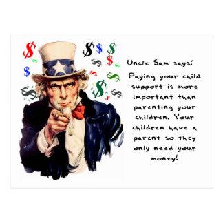 L'Oncle Sam indique : Payez votre pension Cartes Postales