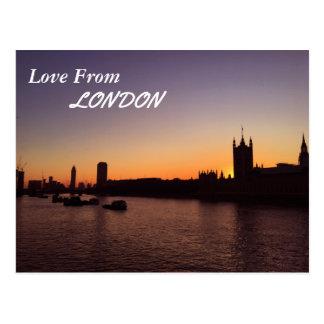 Londres à la carte postale de coucher du soleil