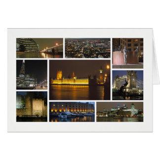 Londres à la multi-image de nuit carte de vœux