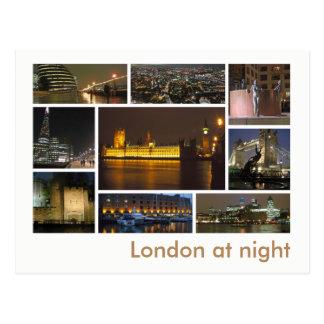 Londres à la multi-image de nuit carte postale