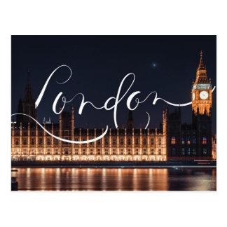 Londres/carte postale calligraphie de Big Ben Carte Postale