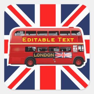 Londres orientée sticker carré