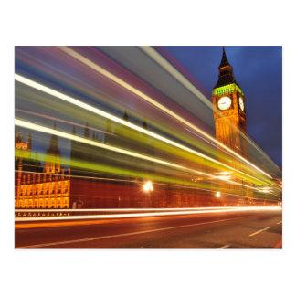 Londres par nuit carte postale