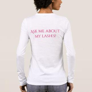 Long T-shirt de douille de cil
