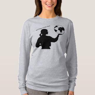 Long T-shirt de douille de dames