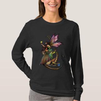 Long T-shirt de douille de dragon féerique