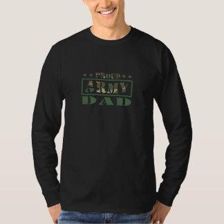 Long T-shirt de douille de papa fier d'armée