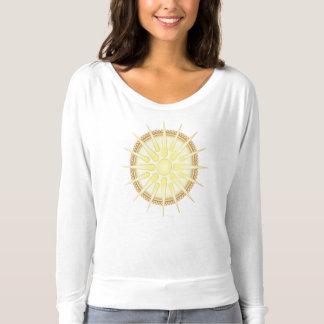 Long T-shirt de douille de Vergina Sun Flowy