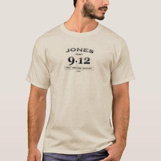Long T-shirt de douille du comté de Jones 9,12