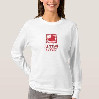 Long T-shirt de fan d'amour d'autisme de la