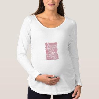 Long T-shirt de maternité inspiré de douille
