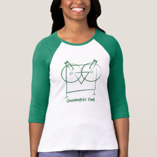 Long T-shirt personnalisé de douille de hibou