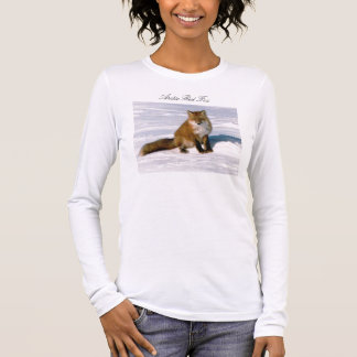Long T-shirt rouge arctique mignon de douille de