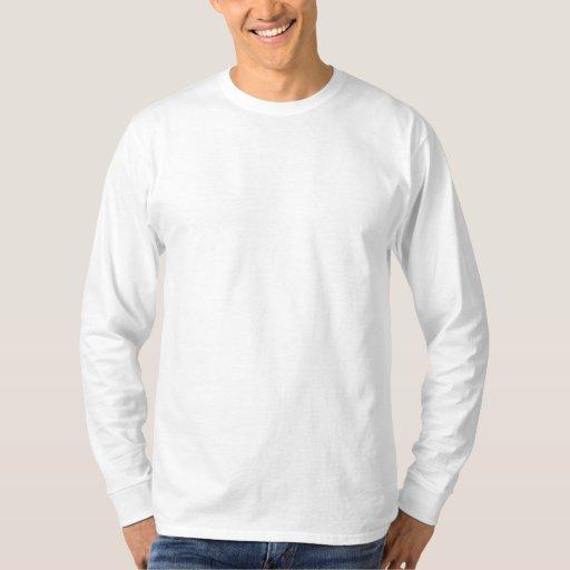 Blanc Embroidered T-shirt brodé à manches longues pour homme