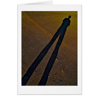Longues jambes 1 d'ombre avec la frontière carte de vœux