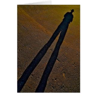 Longues jambes 1 d'ombre carte de vœux