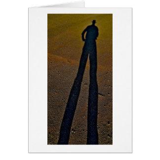 Longues jambes 2 d'ombre carte de vœux