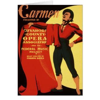 L'opéra du comté de Cuyahoga présente Carmen Carte De Vœux