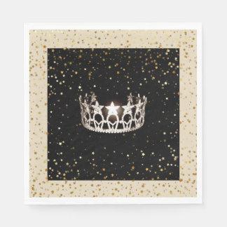 L'or argenté de couronne de la Mlle Etats-Unis Serviette En Papier