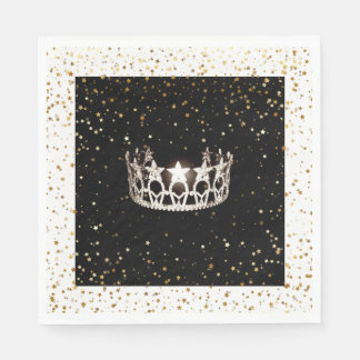 L'or argenté de couronne de la Mlle Etats-Unis Serviettes En Papier
