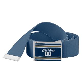 L'or de bleu marine du Jersey du football barre le Ceinture