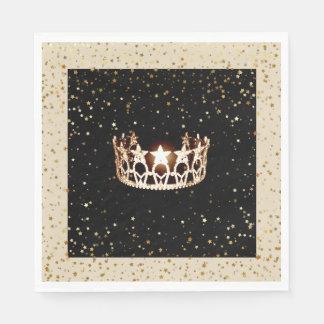 L'or de couronne d'or de la Mlle Etats-Unis tient Serviettes En Papier