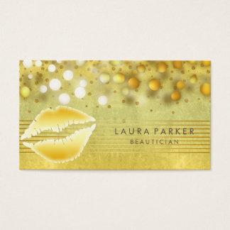 L'or de lèvres barre l'esthéticien de maquilleur cartes de visite