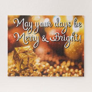 L'or de Noël de vacances soit joyeux puzzle