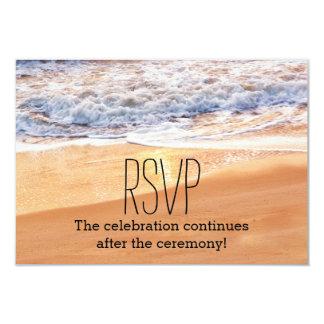 L'or décontracté de mariage de plage ondule RSVP Carton D'invitation 8,89 Cm X 12,70 Cm