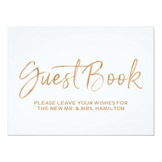 L'or élégant du signe | de mariage de livre carton d'invitation  16,51 cm x 22,22 cm