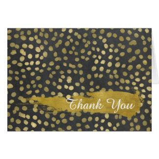 L'or élégant pointille le carte de remerciements