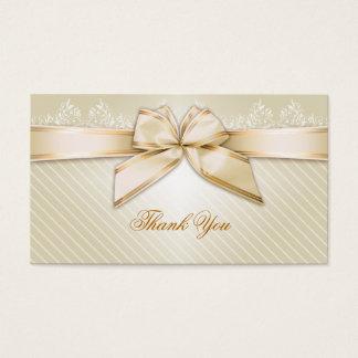 L'or en ivoire de ruban barre le Merci Cartes De Visite