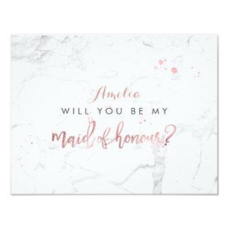 L'or rose de marbre de PixDezines /Faux vous. Carton D'invitation 10,79 Cm X 13,97 Cm