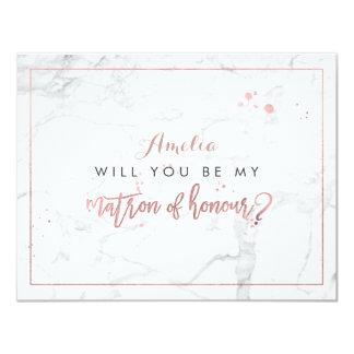L'or rose de marbre de PixDezines /Faux vous serez Carton D'invitation 10,79 Cm X 13,97 Cm
