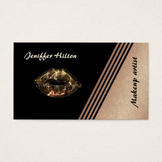L'or rose élégant barre les lèvres métalliques cartes de visite