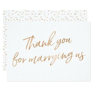"""L'or s'est levé """"Merci pour nous épouser """" Carton D'invitation 12,7 Cm X 17,78 Cm"""