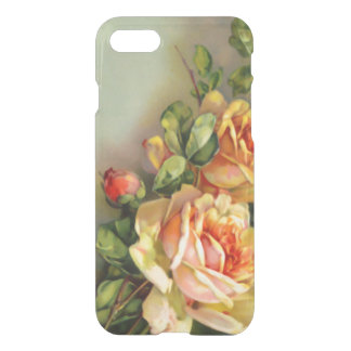 L'or vintage et rougissent des roses coque iPhone 7
