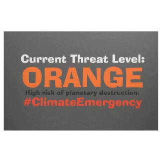 L'orange de niveau de menace résistent au drapeau tissu