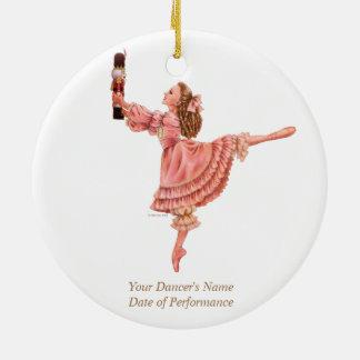 L'ornement de souvenir de ballet de casse-noix ornement rond en céramique
