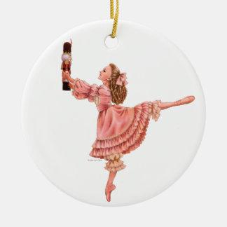 L'ornement rond de ballet de casse-noix ornement rond en céramique