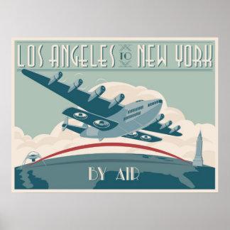Los Angeles vers New York par avion