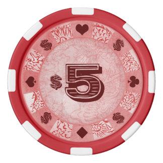 Lot De Jeton De Poker Art légendaire mythique de dragon de Katsushika