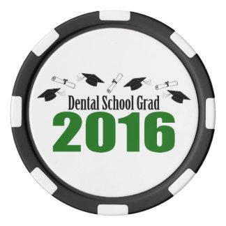 Lot De Jeton De Poker Casquettes du diplômé 2016 d'école dentaire et