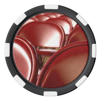 Lot De Jeton De Poker Chaises pliantes rouges