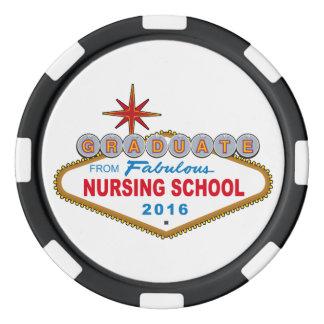 Lot De Jeton De Poker Diplômé de l'école d'infirmières fabuleuse 2016