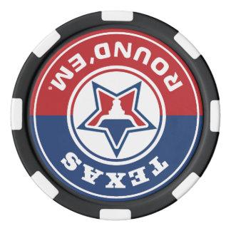 Lot De Jeton De Poker Jeu de puces rond de them® du Texas